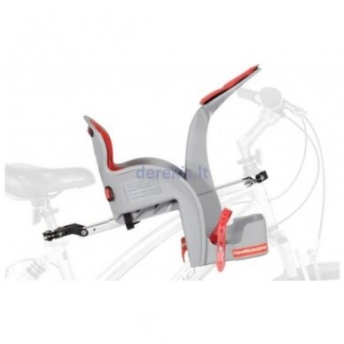 Dviračio kėdutė WeeRide SAFE FRONT CLASSIC RED 3