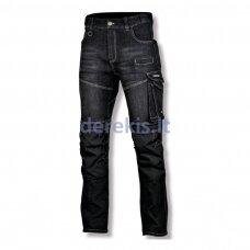 Džinsinės kelnės su sutvirtinimais Lathi Pro juodos (dydį galima pasirinkti)
