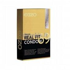 Egzo Real Fit prezervatyvai (3vnt)