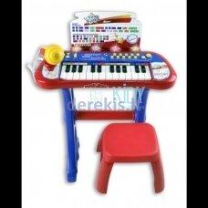 Elektroninis pianinas su mikrofonu, stovu ir kėde BONTEMPI, 13 2410