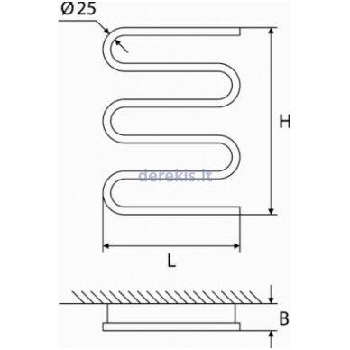 Elektrinis rankšluosčių džiovintuvas Elonika EE 400 S 5K, 4770046006620 dešininis 3