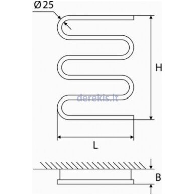 Elektrinis rankšluosčių džiovintuvas Elonika EE 400 S 5KD, 4770046006651 kairinis 2