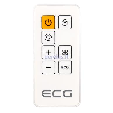 Elektrinis šildytuvas ECG KT200DT baltas 8