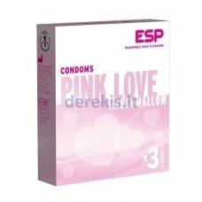ESP Pink Love Marshmellow prezervatyvai (3 vnt)
