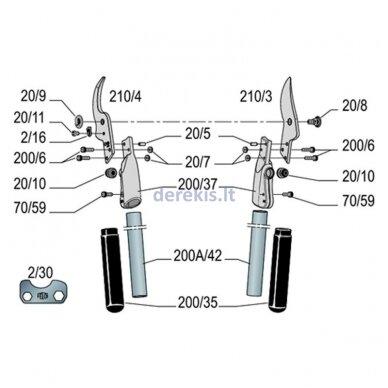 Genėjimo žirklės FELCO F 210A-60, 00008813677 5