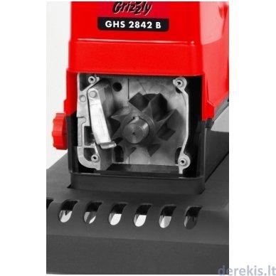 Šakų smulkintuvas 2400W Grizzly GHS 2842 B Silent 2