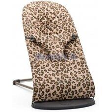 BabyBjorn Bouncer Bliss, Cotton, Beige/Leopard 006075