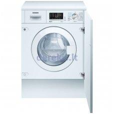 Įmontuojama skalbimo mašina su džiovinimo funkcija SIEMENS WK14D541EU
