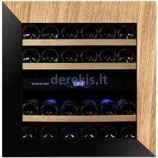 Įmontuojamas vyno šaldytuvas Dunavox Glance-25, DAVG-25.63DOP.TO, juodas/medis