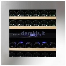 Įmontuojamas vyno šaldytuvas Dunavox Glance-25, DAVG-25.63DSS.TO, nerūdijančio plieno