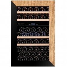 Įmontuojamas vyno šaldytuvas Dunavox Glance-49, DAVG-49.116DOP.TO, juodas/medis