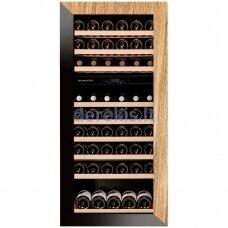 Įmontuojamas vyno šaldytuvas Dunavox Glance-72, DAVG-72.185DOP.TO, juodas/medis