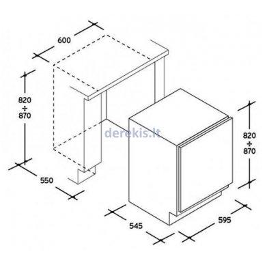 Įmontuojamas šaldytuvas CANDY CRU160NE 2