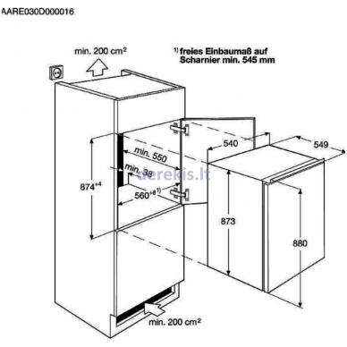 Įmontuojamas šaldytuvas Electrolux ERN1300FOW 3
