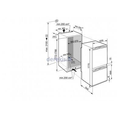 Įmontuojamas šaldytuvas LIEBHERR ICP 3334 5