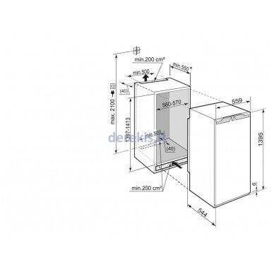 Įmontuojamas šaldytuvas Liebherr IKB 2720 3