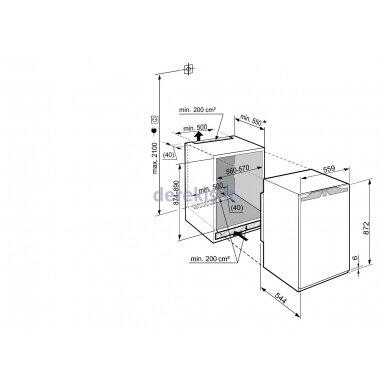 Įmontuojamas šaldytuvas LIEBHERR SIBP 1650 11