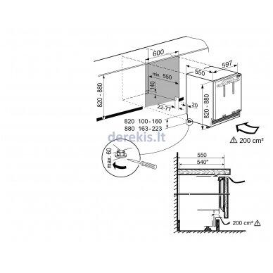 Įmontuojamas šaldytuvas LIEBHERR SUIB 1550 6