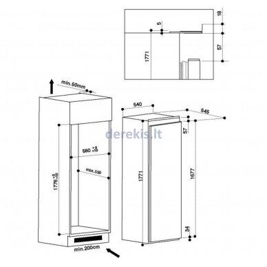 Įmontuojamas šaldytuvas WHIRLPOOL ARG 18081 A++ / be kameros 2