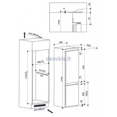 Įmontuojamas šaldytuvas Whirlpool ART 6510/A+ SF 7