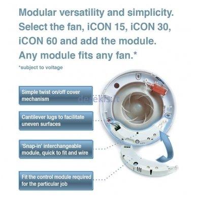 Infraraudonųjų spindulių drėgnomačio ir laikmačio modulis Airflow ICON PRHTM 2