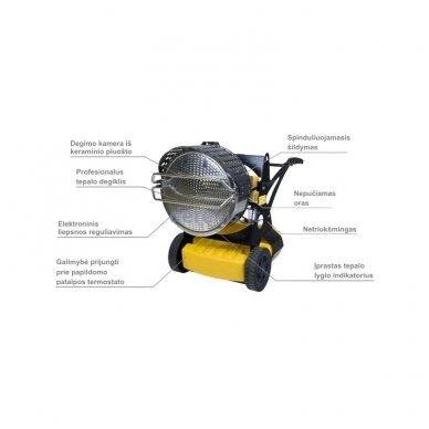 Infraraudonųjų spindulių dyzelinis šildytuvas MASTER  XL 9 SR 2