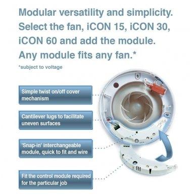 Infraraudonųjų spindulių ir laikmačio modulis (veikia nuo judesio) Airflow ICON PRTM 2