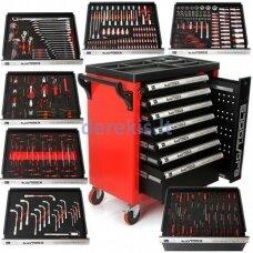 Įrankių spintelė BJC M66599, 7 stalčiai, 298 įrankiai