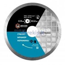 Ištisinio segmento deimantinis diskas (su vandens tiekimu) 115x22,2mm