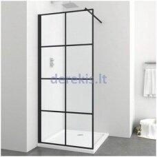 Juoda dušo sienelė Sanotechnik SOHO EN9006B, 90 cm
