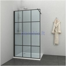 Juoda dušo sienelė Sanotechnik SOHO EN1206B, 120 cm