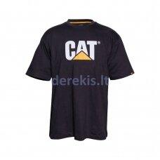 Juodi marškinėliai CAT XL dydis
