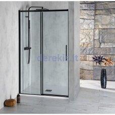 Juodos dušo durys į nišą Altis Line Black 150cm, AL4212B