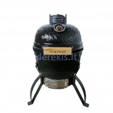 Kamado grilis Zyle Mini ZY13KSBLBBQ, juodas, 33 cm