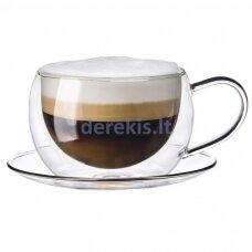 Kavos stiklinės su lėkštutėmis Zyle ZY2427DGP, 270 ml (2 vnt)