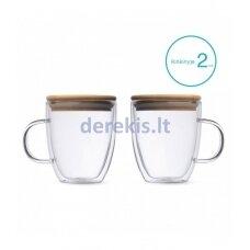Kavos stiklinių su dvigubomis sienelėmis rinkinys 350ml, L19013