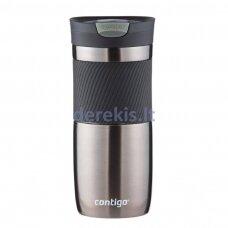Kelioninis termo puodelis su vakuumine izoliacija Contigo Byron Gunmetal 2095560, 470 ml