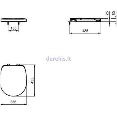 Klozeto dangtis Ideal Standard E129101 5