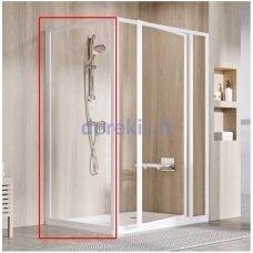 Komplektuojamoji dušo sienelė Ravak PSS-80 195 balta+stiklas Transparent, 940401O2Z1