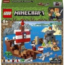 Konstruktorius LEGO Minecraft Piratų laivo nuotykiai 21152, 386 vnt.