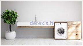 Kodėl naujoje skalbimo mašinoje ar indaplovėje yra vandens likučių?