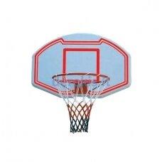 Krepšinio lenta SBA005, plastikinė, su lanku ir tinkleliu, 90 x 60 cm