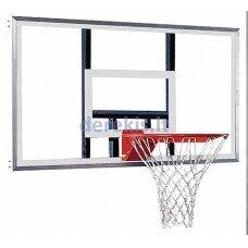 Баскетбольная доска с луком и сеткой, 105 х 180 см