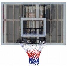Krepšinio lenta VirosPro Sports SBA010, su lanku ir tinkleliu, 120 x 80 cm