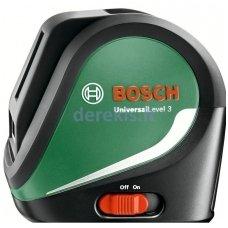 Kryžminių linijų lazeris BOSCH UniversalLevel 3, 0603663900