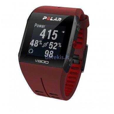 Laikrodis Polar V800 (raudonas) 2