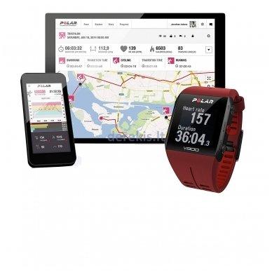 Laikrodis Polar V800 (raudonas) 4