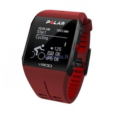 Laikrodis Polar V800 (raudonas) 3