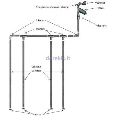 Laistymo sistema KLASIKA DROP 8 m