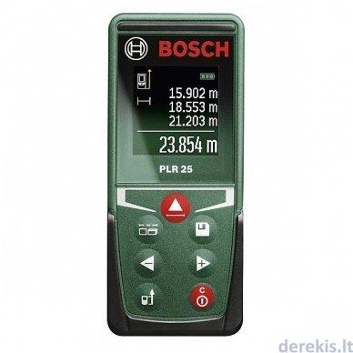 Lazerinis atstumų matuoklis BOSCH PLR 25 (0603672521)